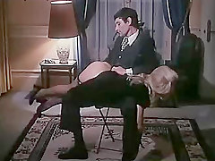 French Woman Spanked In Over The Knee Action
