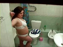 My Chubby Sister In Bathroom Spied With Hidden Cam
