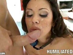Busty Brunette Humiliated