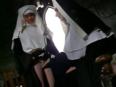 Nuns Use Footjob & Dildo To Masturbate In Nunnery