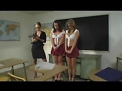 Mature Teacher And School Girls