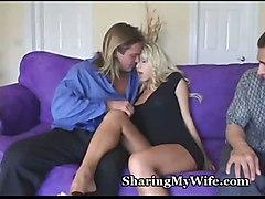 Hottie Shows Her Hubby How He Should Fuck