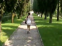 Naked In A Italien Park
