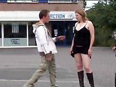 Shameless Preggo 3some In Public