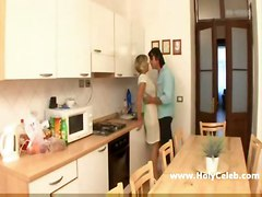 Mature Blond Milf In Kitchen
