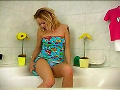Blond Girl In Bath 1