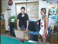 Hot Babe On A Billiard Table