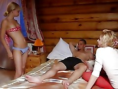 Three Friends Playing Sex Game