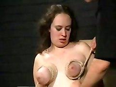 Breast Torture And Extreme Bondage Of English Bbw Slavegirl