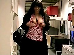 Exposes Herself In A Shopping Centre
