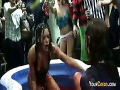 Jello Wrestling In The Dorm Lounge