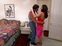 Lady In Pink Drilled By Muscle Guy