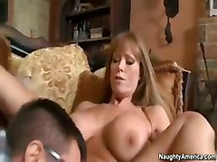 Guy Fucks His Friends Hot Mom On The Couch