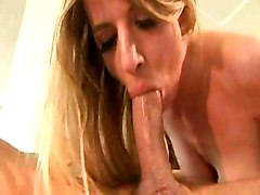 Deep Sucking Bitch Gets Her Sperm Ration