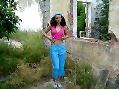 Andrea Stripping Near Ruin