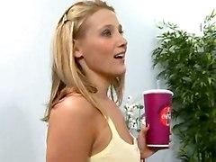 Teen Lesbians Test Dildo Length