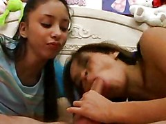 Teens Share A Cock And All The Milk