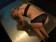 Blonde Babe Makes A Hot Blowjob