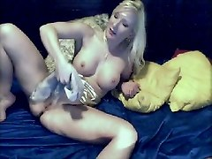 Blonde Chick Tests Dildos On Her Pussy
