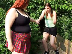 Chubby And Big Bottomed Girl Spanking