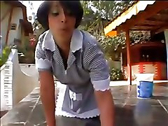 Nasty Maid Gets Banged By The Pool