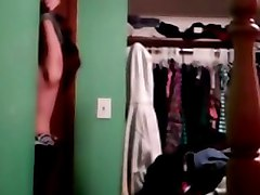 Caught Changing Top On Hidden Camera