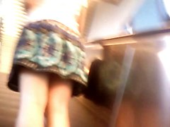 Upskirt Escalator 20 - 2 Milfs Pantyhose And Whitethong