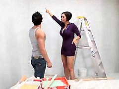 Brunette Milf Dylan Ryder Seduces Painter To Get Fucked By Him To Sweet Orgasm