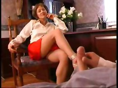 Mom Teases In Fron Of Her Son