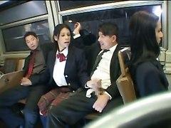 Horny Schoolgirls In The Train