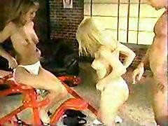 Blondie And Brunette Having Nice Time