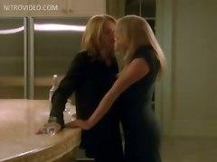 Ellen Barkin And Peta Wilson Lesbian Encounter In The Kitchen