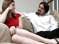 Two Girls Play With A Guys Dick