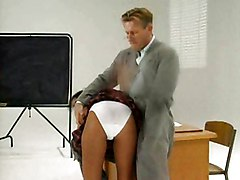 Naughty French Schoolgirl Gets Taught