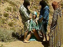 Oriental Bitch Gangbanged In The Desert