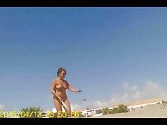 Nudist Beach - Tennis Lesson 2