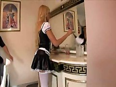 Maid Fucking In Her Uniform And Opaque Stockings