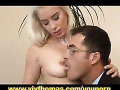 Young Wife Receives A Facial Fountain