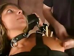 Leather Bondage And Pussy Clamping