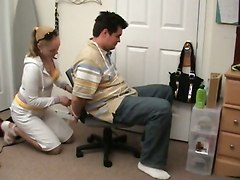Cfnm Tied Up Handjob