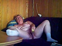 Chubby Granny Masturbating