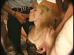 Mature Housewife Gangbanged