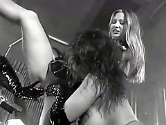 Latex Lesbians With Strap-on