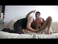 Muscular Young Guy In Anal Punish His Bald Friend