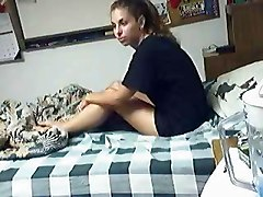 College Teen Couple Fucking In Dorm
