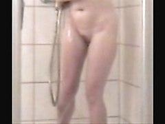 Mummy Fingering While She Takes Shower