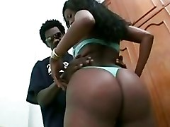 Lusty Ebony Bitch Teases With Her Fantastic Bum