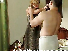 Milf In Black Nylons Seduces A Guy