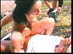 German Gangbang With Beauty In Forest