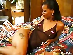 Fantastic Ebony Lady Teasing With Her Tight Black Assw